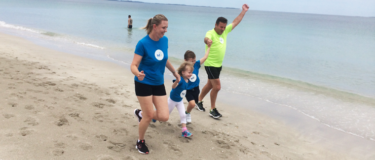 Beeliar family in training for the SIDS and Kids Sunshine Beach Run