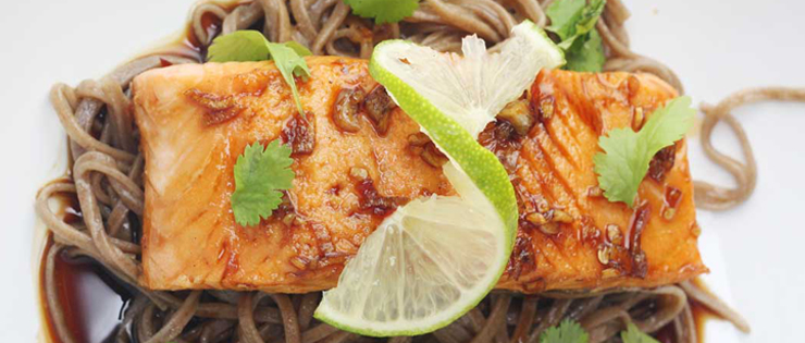 Maple Teriyaki Salmon with Soba Noodles