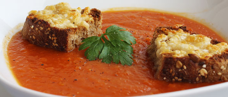 Roasted Butternut Squash and Tomato Soup