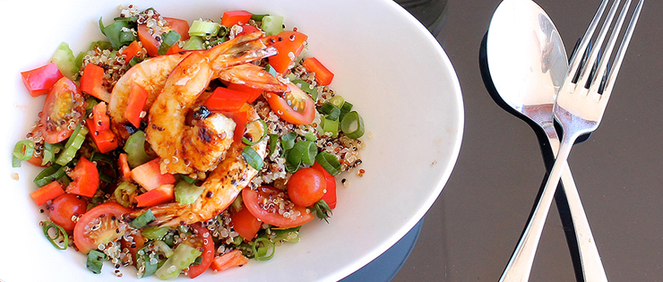 Quinoa and Prawn Salad