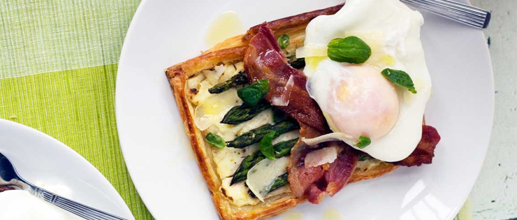 Asparagus Brunch Tart with Parmesan and Basil