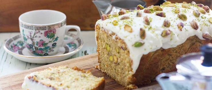 Pistachio, Lime and Zucchini Loaf