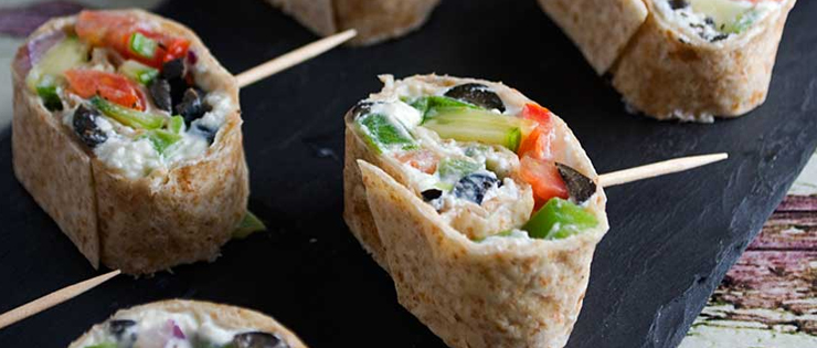 Greek Tortilla Pinwheels