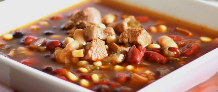 Chicken and Three Bean Soup