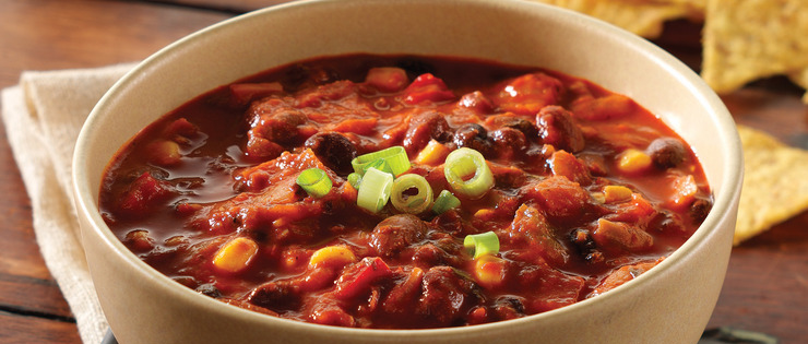 Quick Vegetarian Chili Bowl