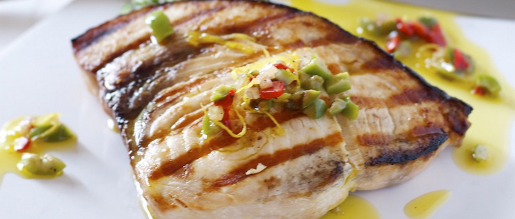 Grilled Swordfish with Thai Dressing