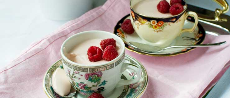 3-Ingredient Raspberry Greek Yogurt Panna Cotta