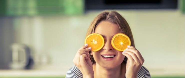Healthy Eyes with Vitamin A and Beta-Carotene